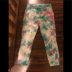 Tie dye Paige Jeans